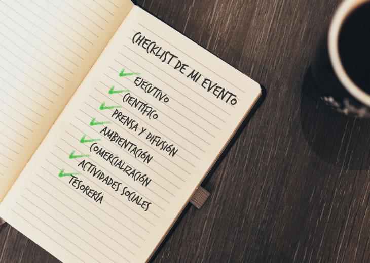 Haz una checklist para que no falte nada en tu evento
